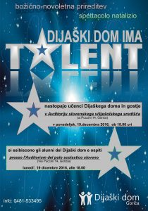 plakat Dijaski dom ima talent